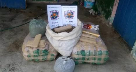 A droga estava embalada pronta para venda. (Foto: Polícia Militar )