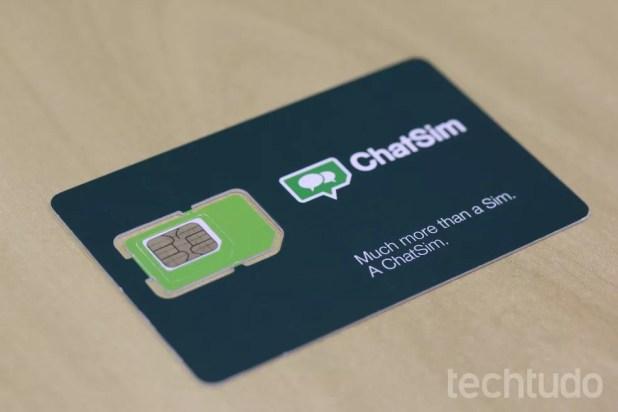 ChatSim é um chip para acessar aplicativos mensageiros de forma ilimitada  (Foto: Ana Marques/TechTudo)