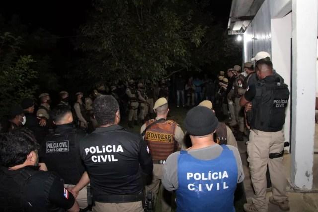 Polícia cumpre mandados de prisão e busca em operação contra suspeitos de tráfico na Chapada Diamantina — Foto: Haeckel Dias/Polícia Civil