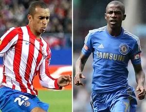 Miranda e Ramires, Chelsea , Atlético de Madrid (Foto: Agência Getty Images)