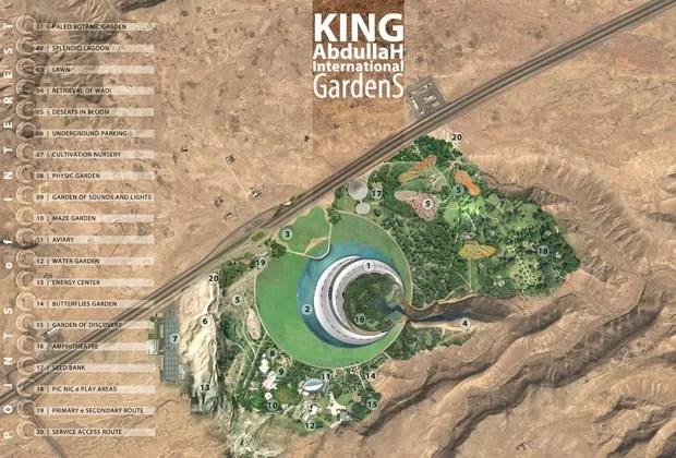 Próximo a Riade, capital da Arábia Saudita, o complexo leva o nome do rei Abdullah, que morreu em janeiro de 2015