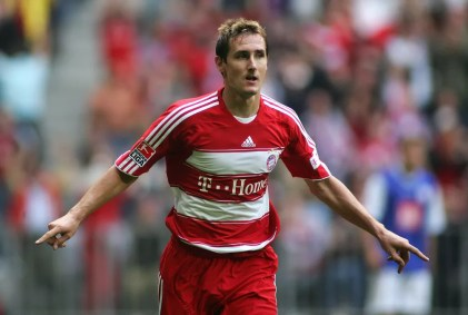 Klose, ex Bayern, estará na Legends Cup — Foto: Getty Images