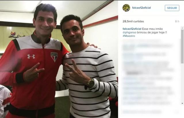 Falcão, Ganso, Morumbi, Libertadores (Foto: Reprodução/ Instagram)