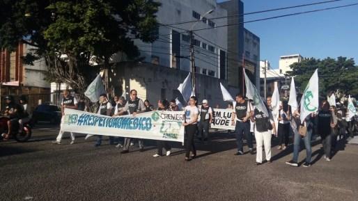 Médicos fizeram passeada em Natal (Foto: Divulgação/ Cremern)