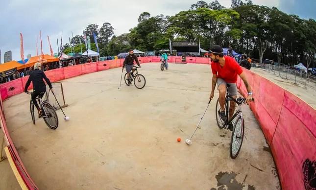 Bike Polo na última edição do evento