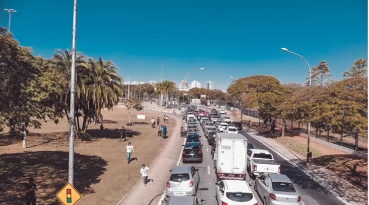 Carreata da Marcha Para Jesus segue em direção ao Pavilhão de Exposições do Anhembi, na Zona Norte da capital — Foto: Divulgação/Marcha Para Jesus