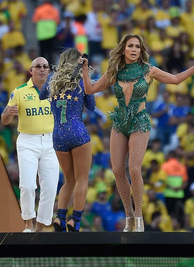 O trio de cantores (Foto: AFP)