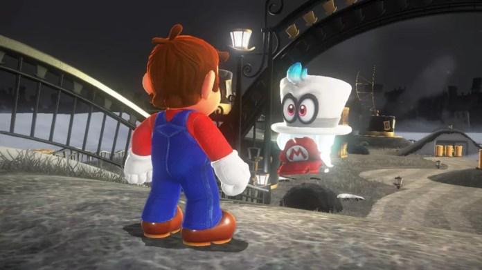 Principal nova mecânica de 'Super Mario Odyssey' é o boné Cappy, que permite a Mario assumir a forma de objetos e outros personagens (Foto: Divulgação)