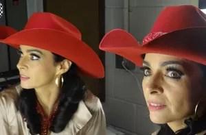 Claudia Ohana (Foto: Domingão do Faustão / TV Globo)