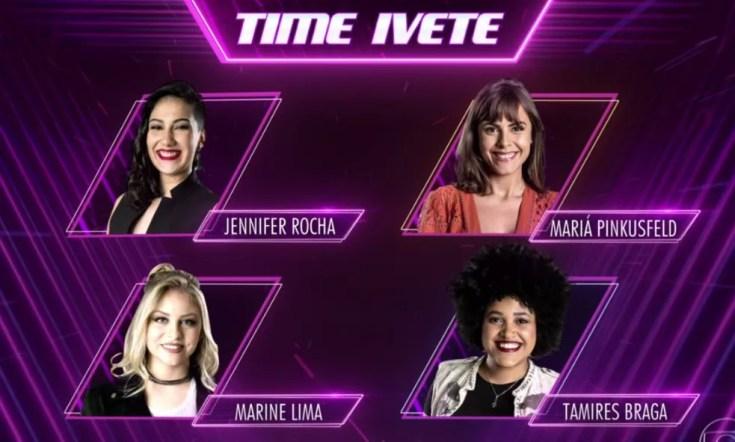 Time Ivete: Jennifer Rocha, Mariá Pinkusfeld, Marine Lima e Tamires Braga (Foto: TV Globo)