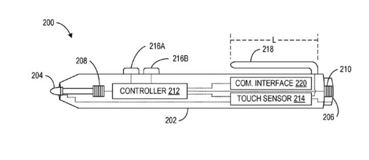 Surface Pen pode ganhar novo modelo (Foto: Reprodução/US Patent)