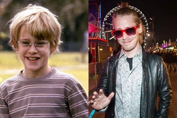 Macaulay Culkin em 1991 e atualmente (Foto: Divulgação)