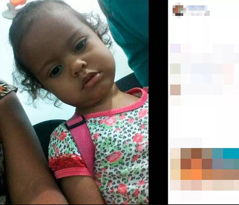 Anny Sofia, de um ano e 11 meses, foi morta pelo padrasto em cidade do oeste da Bahia (Foto: Reprodução/Facebook)