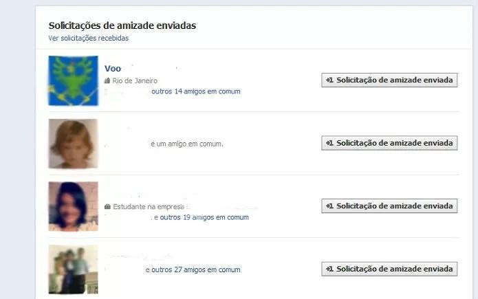 Veja quem não aceitou seu pedido de amizade no Facebook (Reprodução/ Taysa Coelho) (Foto: Veja quem não aceitou seu pedido de amizade no Facebook (Reprodução/ Taysa Coelho))