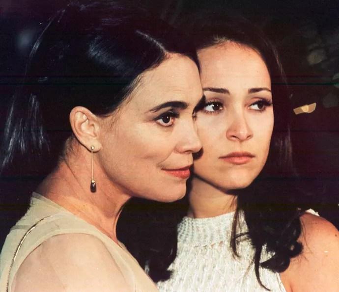 Regina e Gabriela Duarte viveram mãe e filha em 'Por Amor' (Foto: CEDOC/TV Globo)