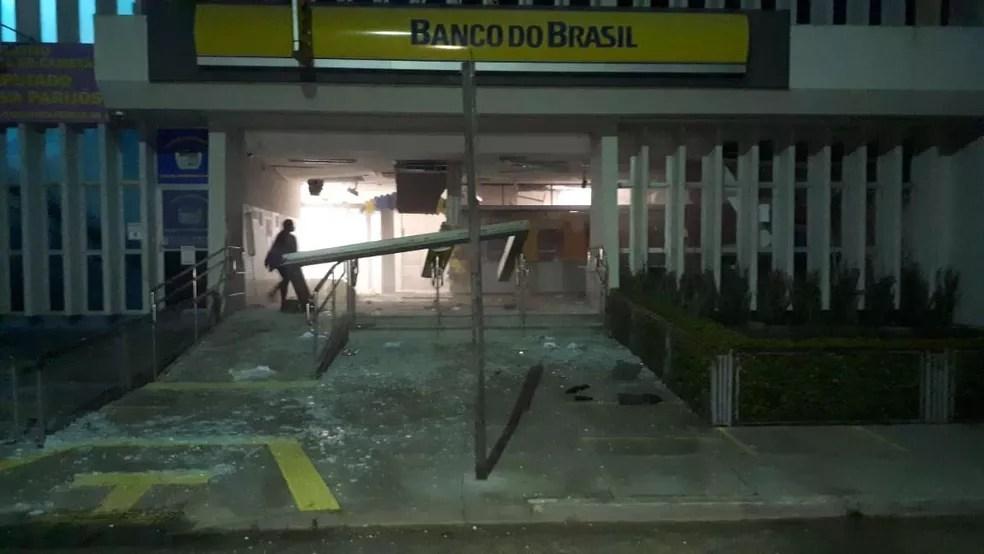 Agência do Banco do Brasil é alvo de ação criminosa violenta em Cametá, no Pará — Foto: Reprodução