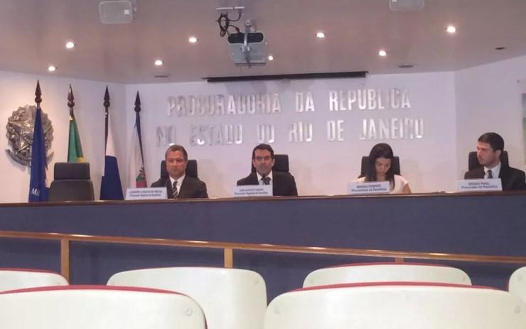 Procuradores detalham esquema de corrupção desvendado com a Operação Ponto Final (Foto: Fernanda Rouvenat / G1 Rio)