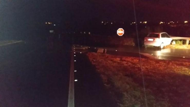 Um dos acidentes foi em Pacaembu, por volta das 23h40 — Foto: Polícia Rodoviária