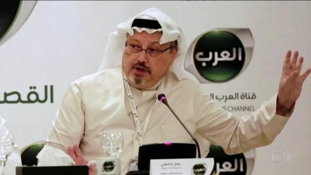 Jamal Khashoggi, jornalista crítico ao governo da Arábia Saudita, desapareceu após entrar no consulado do seu país em Istambul — Foto: Reprodução / TV Globo