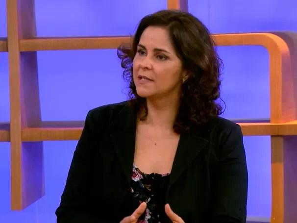 Eugênia Augusta Gonzaga também é autora do livro (Foto: Globo)