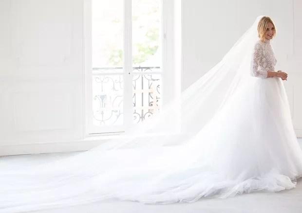 Chiara Ferragni casou a bordo de um Dior feito sob-medida para ela (Foto: Divulgação/Dior)