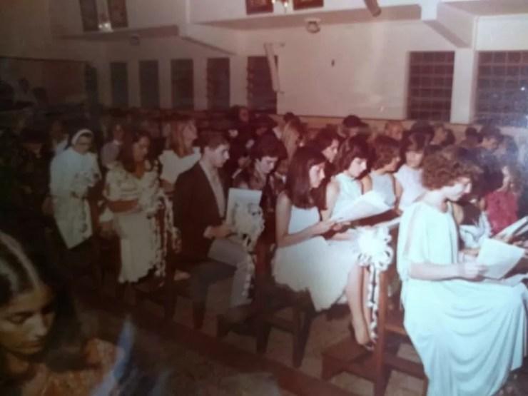 Formatura da turma em 1978 em Bauru  (Foto: Arquivo pessoal)