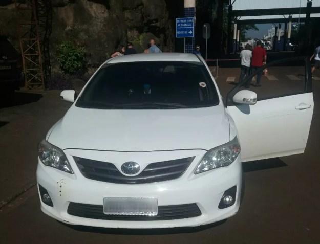 Carro furtado em setembro de 2017 estava com placas clonadas (Foto: PRF/Divulgação)