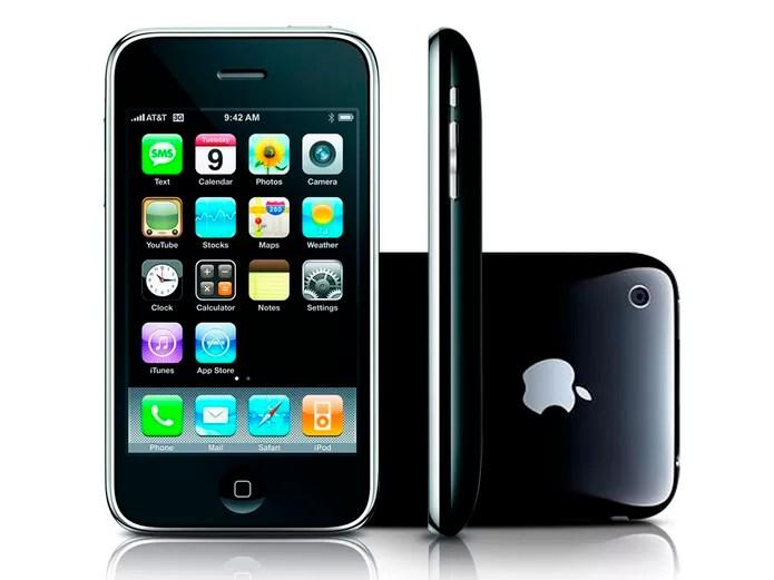 iPhone 3GS possui uma aparência arredondada e apenas câmera traseira (Foto: Divulgação/Apple)