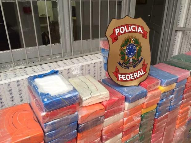 Polícia Federal apreendeu 438 kg de cocaína na Fronteira Oeste (Foto: Polícia Federal/Divulgação)