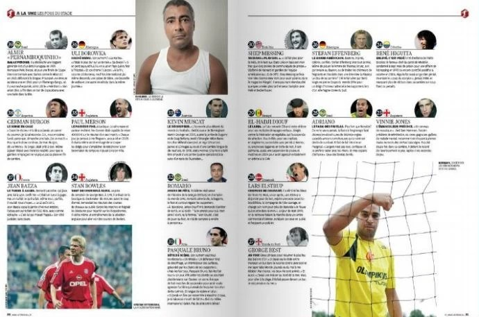 Romário e Adriano em lista de bad boys da France Football (Foto: Reprodução)