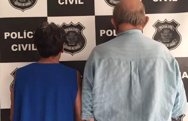 Casal de idosos é preso suspeito de abusar de neta e bisnetas em Goiás (Foto: Divulgação/Polícia Civil)