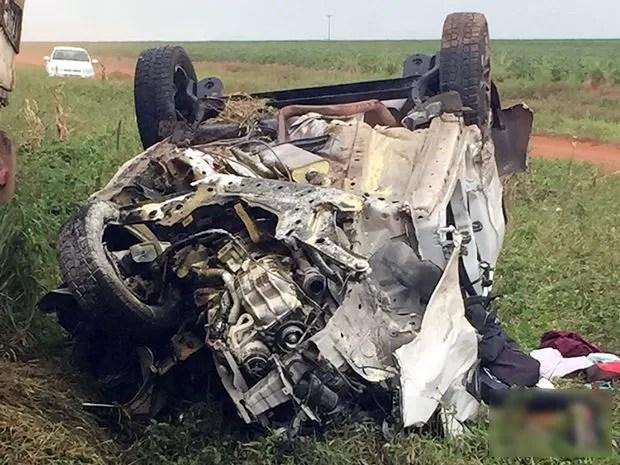 Casal de professores e genro morreram em acidente na BR-364 em Mato Grosso (Foto: Divulgação/PRF-MT)