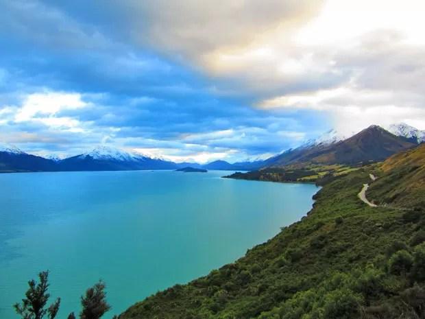 Volta do passeio tem nova vista panorâmica do Lago Wakatipu (Foto: Juliana Cardilli/G1)