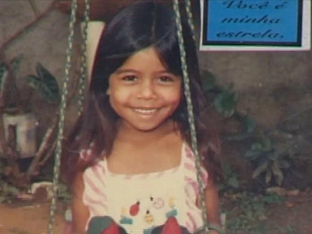 Leide das Neves, 6 anos, foi a primeira vítima do césio-137, e se tornou símbolo da tragédia em Goiás (Foto: Reprodução / TV Anhanguera)