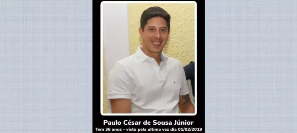 Paulo César de Souza Júnior foi encontrado morto em Altinópolis após ser dado como desaparecido pela família — Foto: Reprodução/EPTV