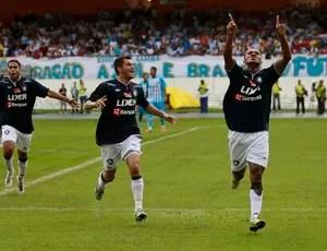 Val Barreto fez o terceiro gol dele no Parazão (Foto: Tarso Sarraf / O Liberal)