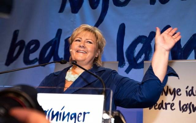 Erna Solberg — Foto: Audun Braastad/AFP