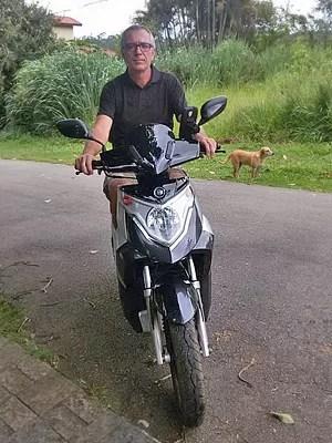 O motociclista Ricardo Sette teve problemas com seu Dafra Cityclass (Foto: Ricardo Sette / Arquivo Pessoal)