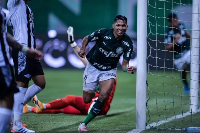 Palmeiras x Libertad, comemoração do gol de Rony — Foto: Staff Images / CONMEBOL