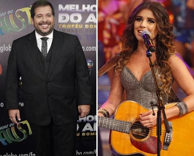 Paula Fernandes e Leandro Hassum estarão neste Domingão (Foto: Domingão do Faustão / TV Globo)