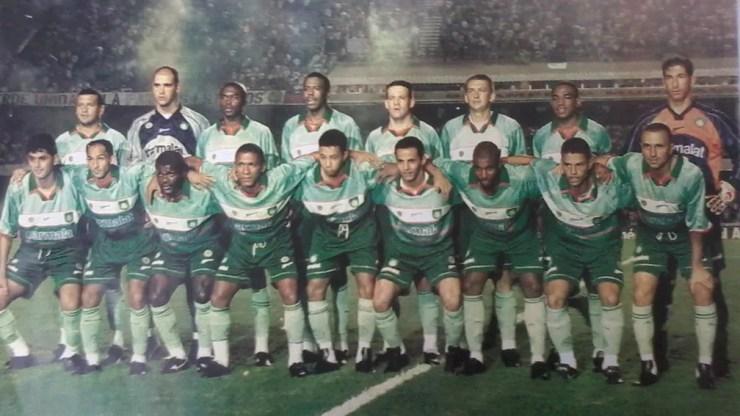 Time posado na conquista do Torneio Rio-São Paulo de 2000 — Foto: Acervo Histórico do Palmeiras