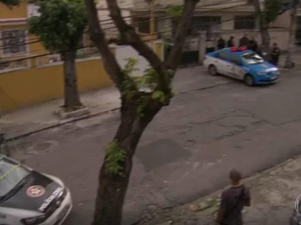 PM foi baleado no Cachambi (Foto: Reprodução/TV Globo)