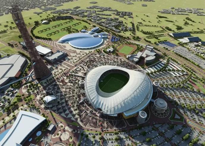 Khalifa International Stadium visão ampla