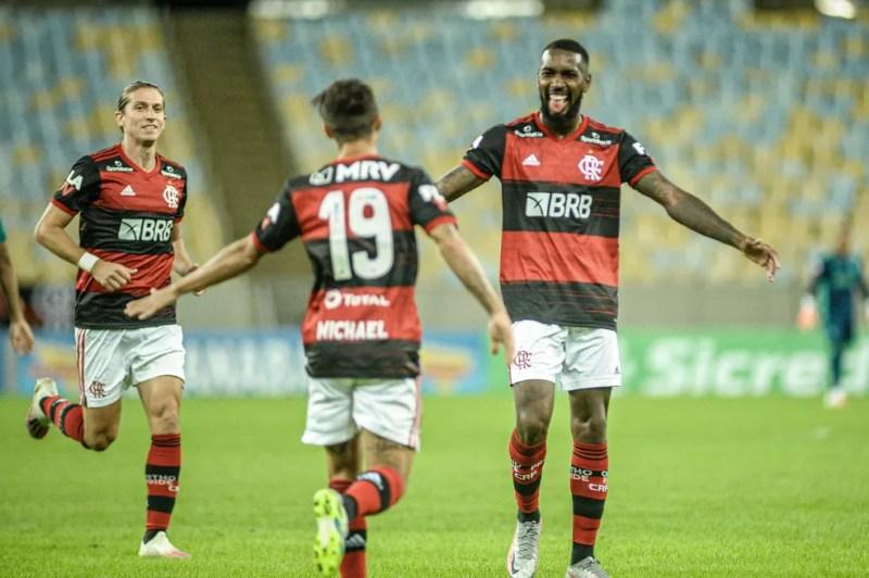 Gol Gerson, Flamengo x Boavista — Foto: NAYRA HALM/FOTOARENA/ESTADÃO CONTEÚDO