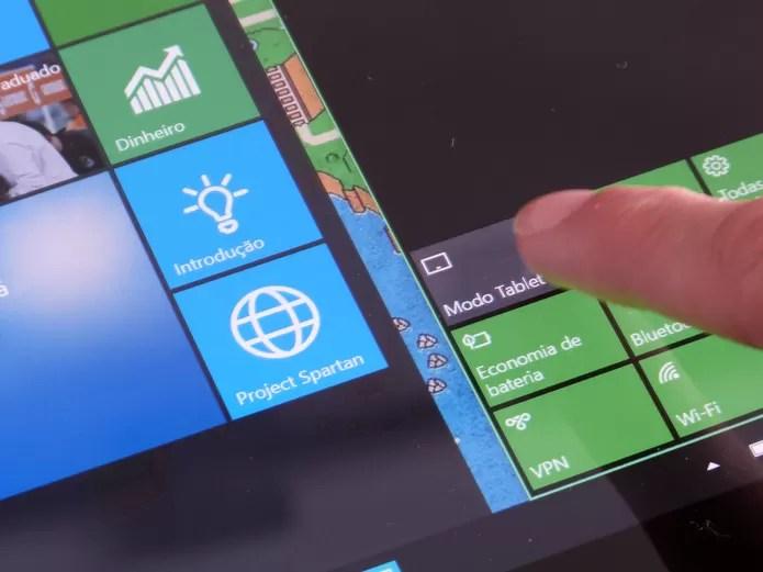 Windows 10 traz modo tablet que adapta interface à telas sensíveis ao toque (Foto: Elson de Souza/TechTudo) (Foto: Windows 10 traz modo tablet que adapta interface à telas sensíveis ao toque (Foto: Elson de Souza/TechTudo))