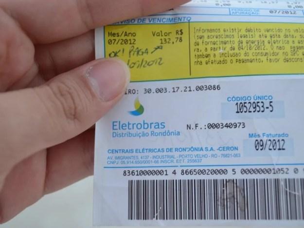 Consumidores de energia em Rondônia terão desconto de 4,74% devido a reembolso de cobrança indevida (Foto: Priscila Lima/G1)