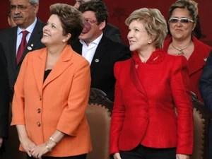 Presidente Dilma Rousseff e a ministra da Cultura, Marta Suplicy (Foto: Pedro Ângelo/G1)