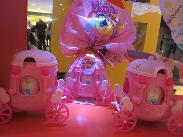 Na linha infantil feminina, a Nestlé traz entre os destaques deste ano a carruagem da Princesa da Disney (Foto: Marta Cavallini/G1)