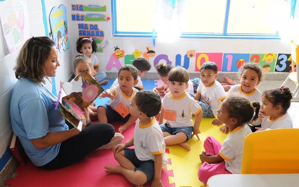Crianças estudam em creche Canela de Ema, Sobradinho II, no Distrito Federal — Foto: Pedro Ventura/Agência Brasília
