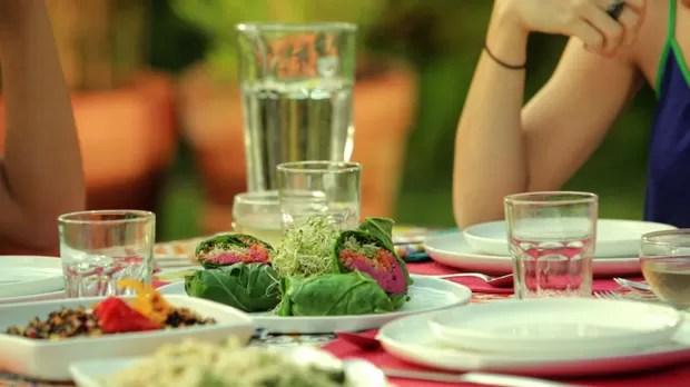 Sanduiche de Couve com Hmus Rosa e Quinoa da Bela Gil para o Bela Cozinha Ep energizantes (Foto: Divulgao)